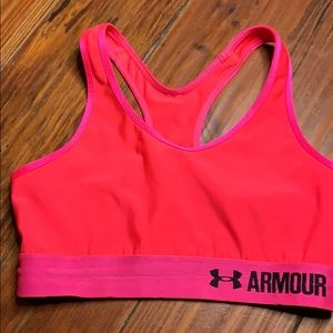 Under Armour pink orange sports athletic. Bra s